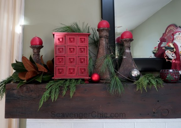 Red chalk paint Jewelry Cabinet