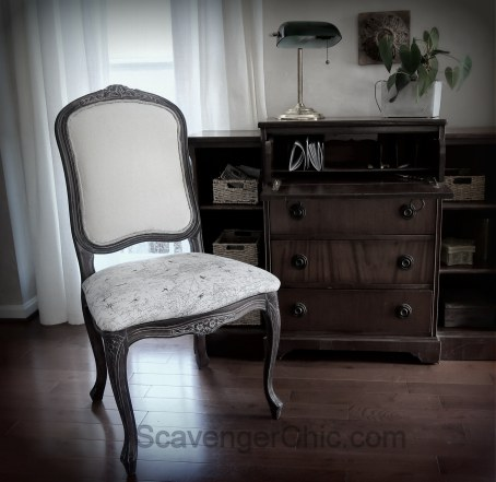 Upholstered French style chair makeover diy-019