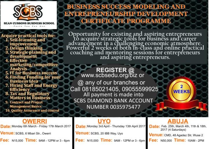 2 week Program-Owerri-Uyo-Abuja.
