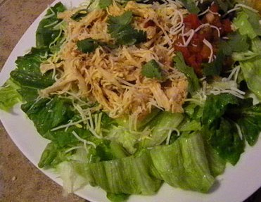 SCD Slow Cooked Chicken Taco Salad