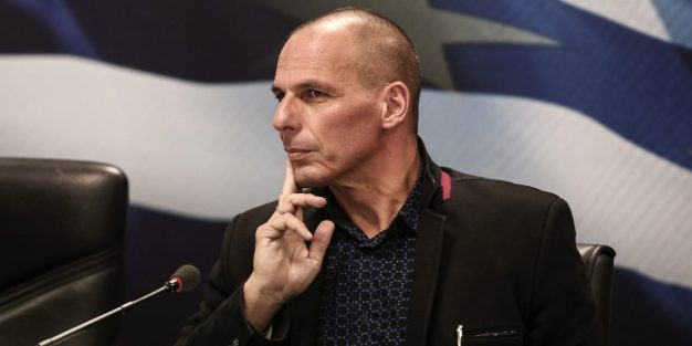 Yanis Varoufakis, Greece's incoming finance minister, attends the handover ceremony in Athens, Greece, on Wednesday, Jan. 28, 2015. Varoufakis, is gearing up for negotiations with the euro area that have been on hold since December as Greece entered an election campaign. Photographer: Yorgos Karahalis/Bloomberg via Getty Images *** Yanis Varoufakis