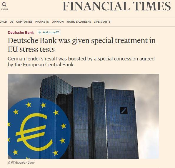 Risultati immagini per financial times deutsche bank