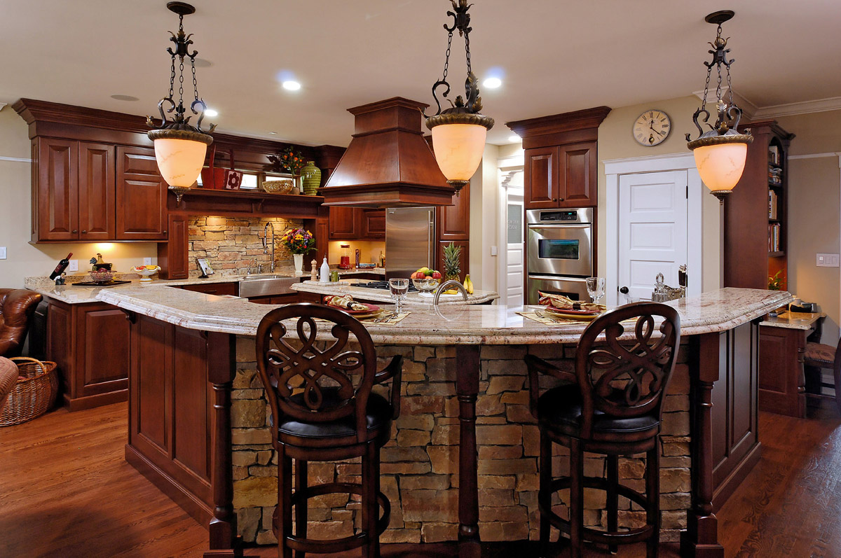 remodeled kitchen featuring natural cherry cabinetry images of remodeled kitchens Published December 13 at in