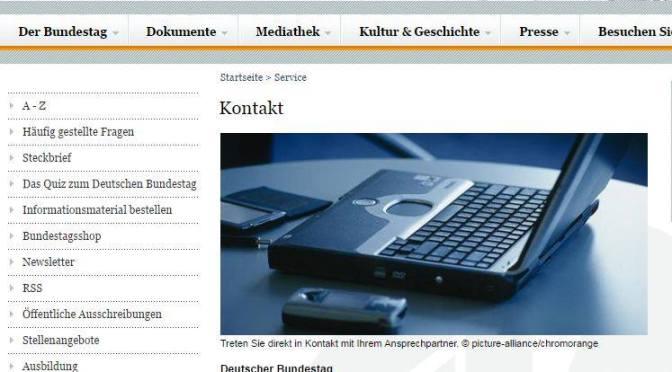Anruf im Bundestag