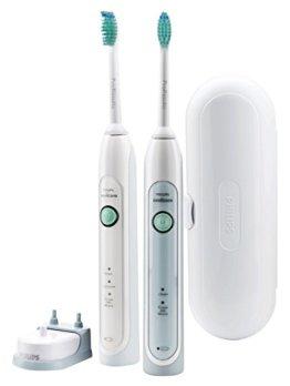 Philips Sonicare HX6730/33 HealthyWhiteElektrische Zahnbürste mit Schalltechnologie, weiß, Doppelpack -