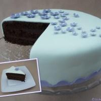 Leckere Fondant-Schoko-Torte - eine Premiere