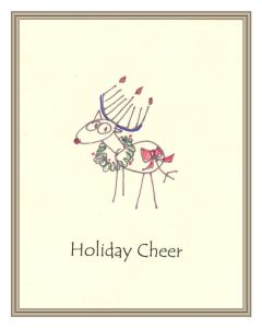 Card - Holiday Cheer Reindeer with border2