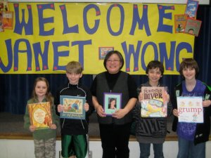 Janet Wong at a School