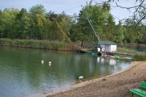 Die Wasserskianlage.