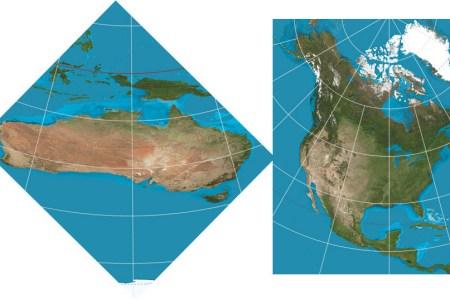 north america australia flat earth map comparison1