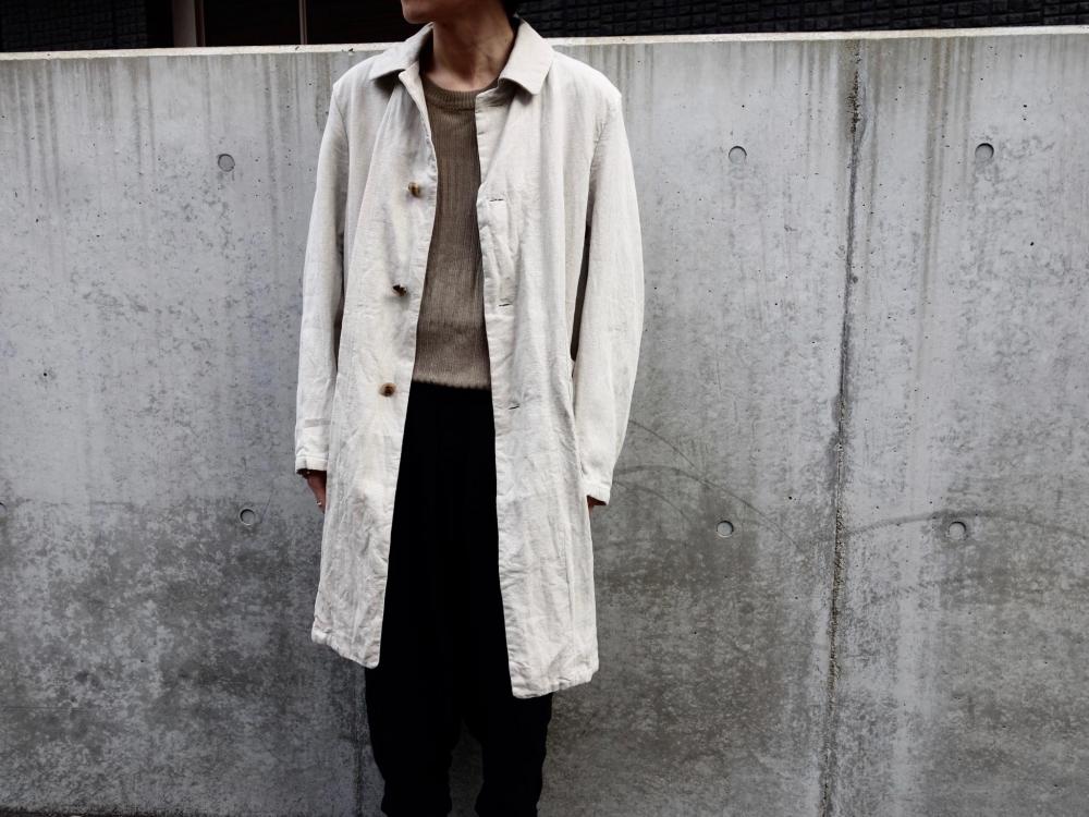YAECA WRITE Linen A-Line Coat yaeca