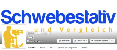 Facebook Seite Schwebestativ Test