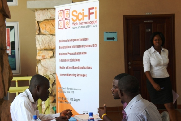 Sci-Fi Web Tech Goes to Ashesi 2013 Career fair