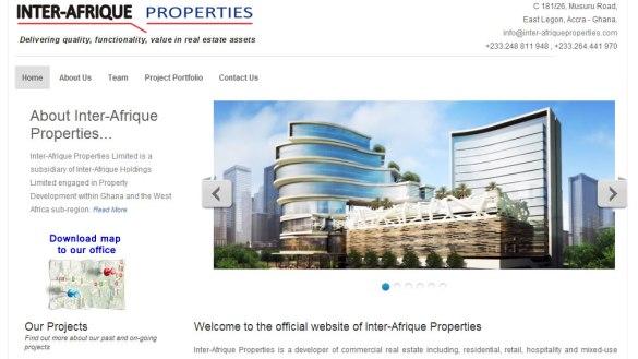 Launch of Inter-Afrique Properties website