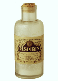 An old bottle of aspirin