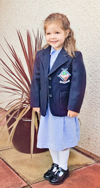 Georgia first day at school