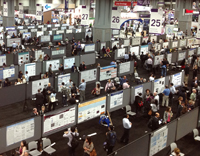 The scale of the poster hall at AACR