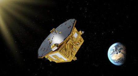 Prototype gravitational wave spacecraft sets new free fall record