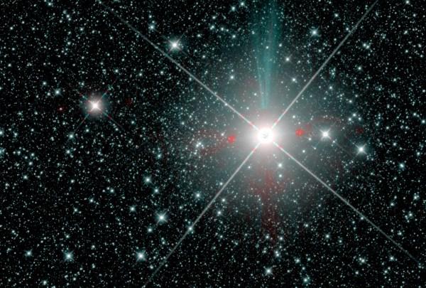 Gaia 1 Sternhaufen links von Sirius. Aufnahme des Infratrot-Weltraumteleskops WISE. Bild: Sergey Koposov; NASA/JPL; D. Lang, 2014; A.M. Meisner et al. 2017