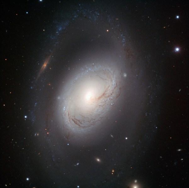 Spiralgalaxie M96 vor zahlreichen Hintergrundgalaxien, aufgenommen mit dem FORS1-Instrument des Very Larg Telescope. Bild: ESO/Oleg Maliy, CC-BY 4.0.