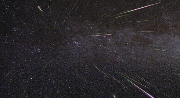 Perseiden. Bild: NASA/JPL, gemeinfrei.