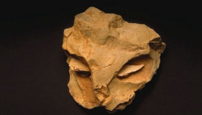 Ice age mask Neanderthal