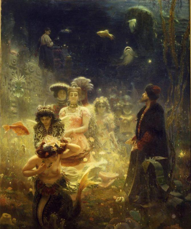 Sea Tsar and Mermaids Sadko
