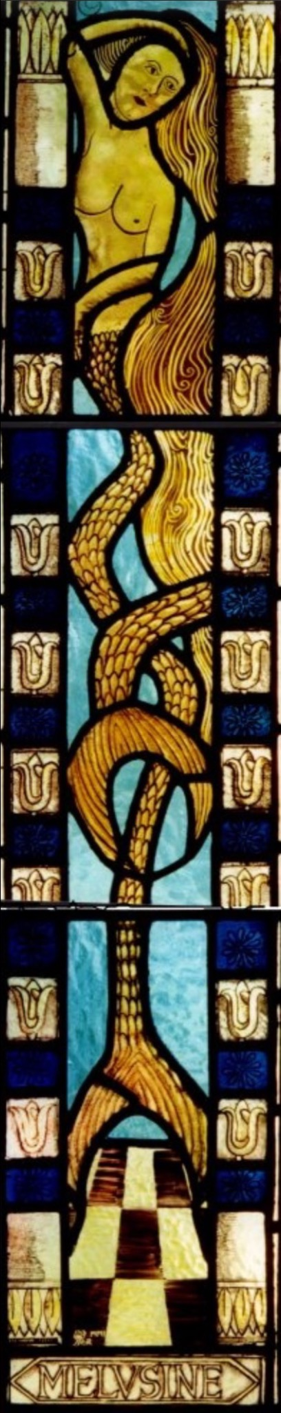 Melusine stained glass mermaid