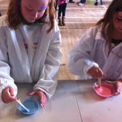 Making slime at a Family Fun Day