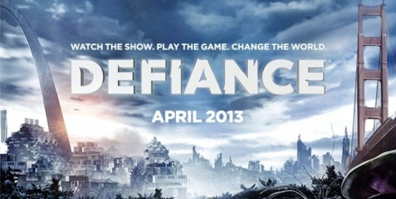 Defiance crossover premiere logo wide