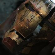 Iron Man 3 cracked helmet