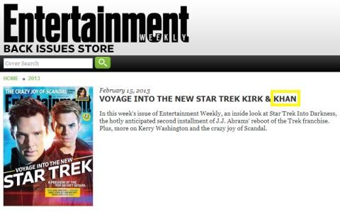 Star Trek ID EW order page