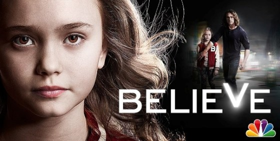 Believe logo with face wide