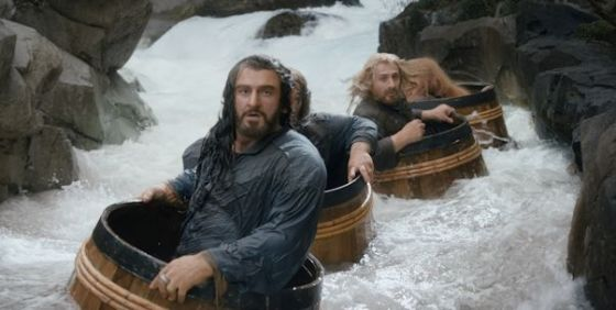 The Hobbit TDOS 001 river barrels wide