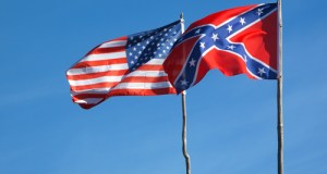 USA Flag and CSA Battle Flag