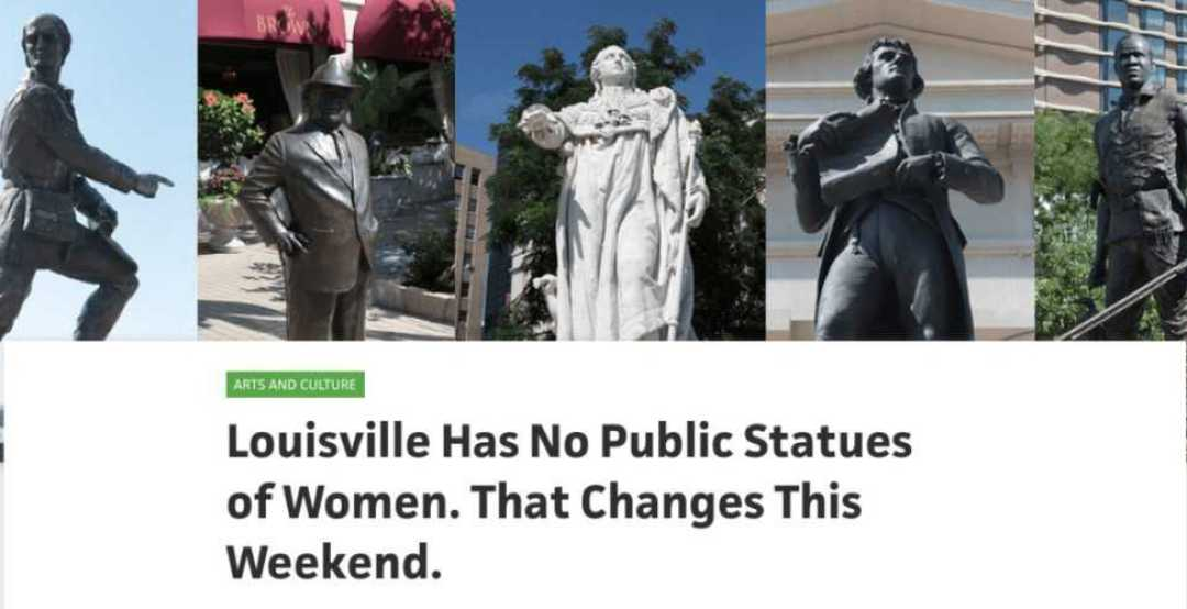From WFPL: Louisville has no public statues of women. That changes this weekend.