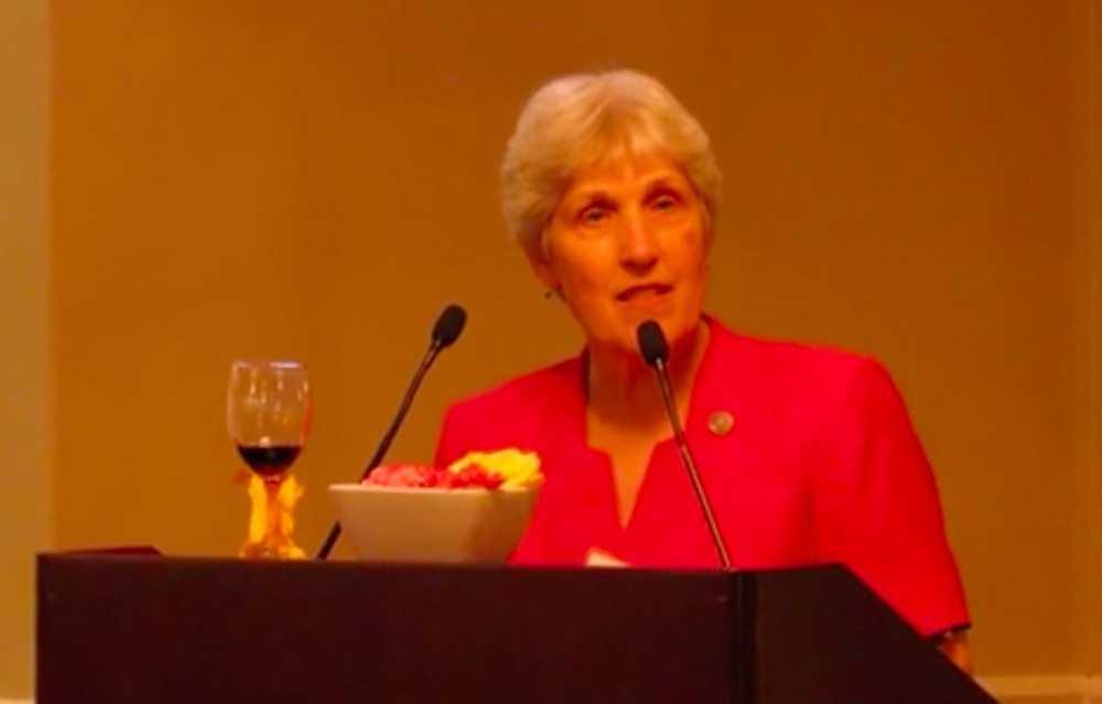 Sister Susan receives the Caritas Medal