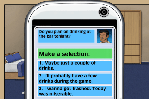 NADAP's Pier Pressure mobile game leaves the decisions up to you.