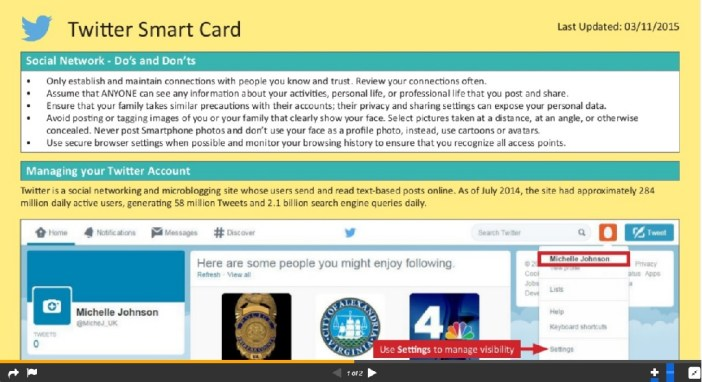 "Navy OPSEC ""smart card"" has detailed tips for securing your online activities."