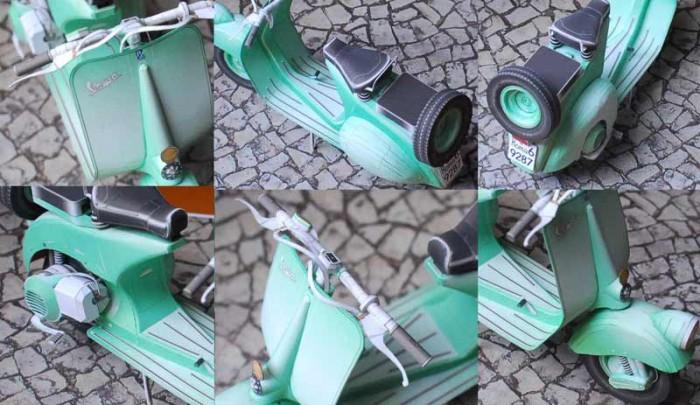 Vespa papercraft engine