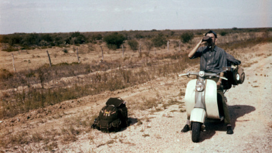 Bowman in the Mexican desert, 1959.
