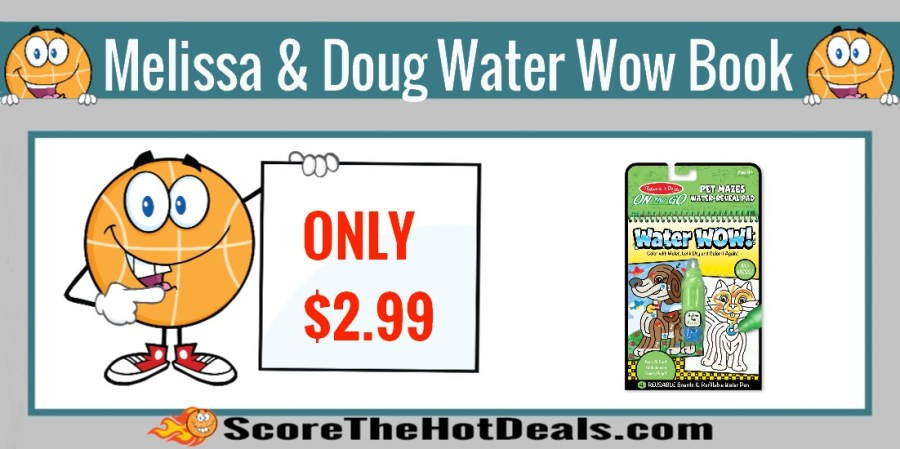 Melissa & Doug Pet Mazes Water Wow Book