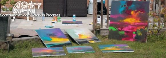 Acrylic Painting en plein air