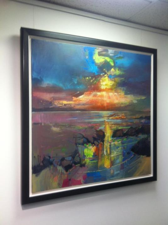 Framed Harris Sky Painting