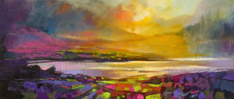 Highland Heather semi-abstract landscape painting by Scott Naismith