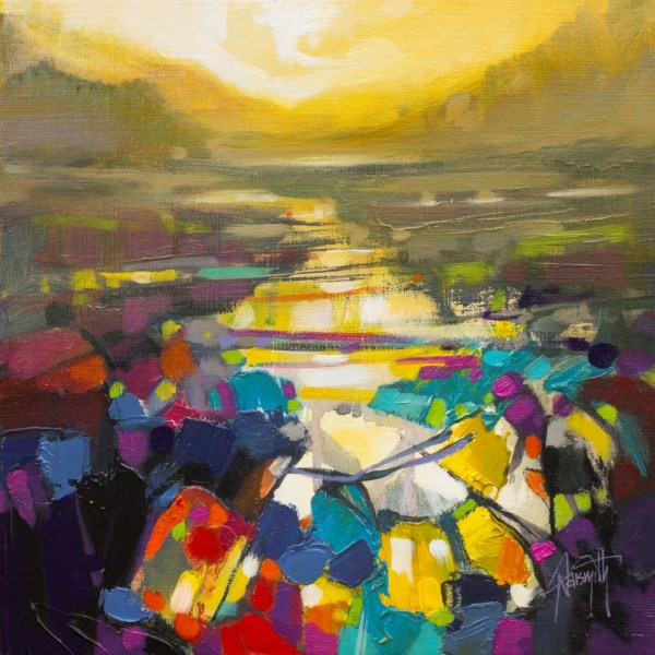 Optimistic Path Study abstract landscape painting by Scott Naismith