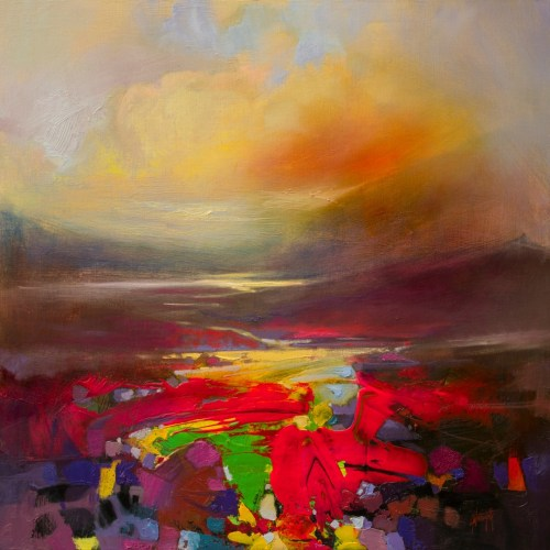 Present Energy semi-abstract landscape painting by Scott Naismith