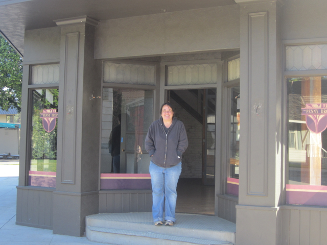 Outside of Luke's Diner from the Gilmore Girls