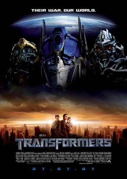 Cartel de Transformers.