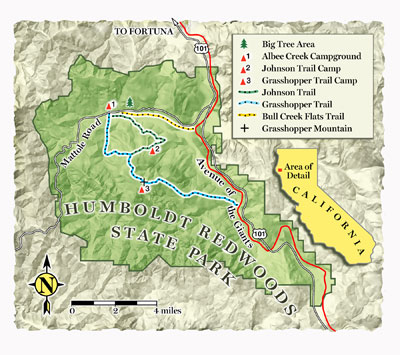 Trail Guide Humboldt Redwoods State Park Map